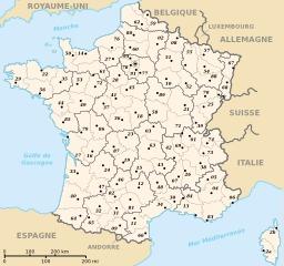 Départements et régions de France métropolitaine. Source : http://data.abuledu.org/URI/50f70e09-departements-et-regions-de-france-metropolitaine