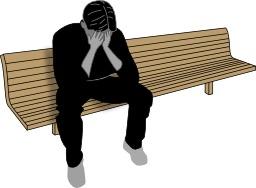 Déprimé sur un banc. Source : http://data.abuledu.org/URI/5315fa04-deprime-sur-un-banc
