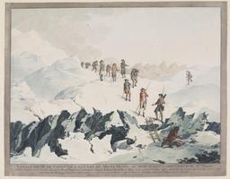 Descente du Mont-Blanc en 1787. Source : http://data.abuledu.org/URI/5230e3d2-descente-du-mont-blanc-en-1787