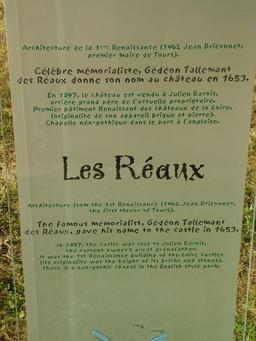 Descriptif du château des Réaux. Source : http://data.abuledu.org/URI/50f1905a-descriptif-du-chateau-des-reaux