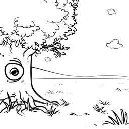 Dessin d'arbre en été. Source : http://data.abuledu.org/URI/565ac500-dessin-d-arbre-en-ete