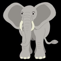Dessin d'éléphant de face. Source : http://data.abuledu.org/URI/54f78331-dessin-d-elephant-de-face