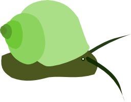 Dessin d'escargot à coquille verte. Source : http://data.abuledu.org/URI/538b9695-dessin-d-escargot-a-coquille-verte