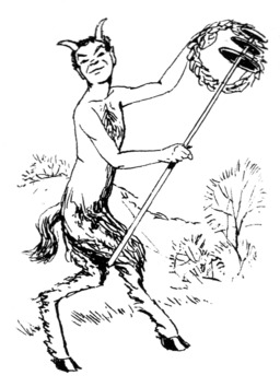 Dessin d'un satyre. Source : http://data.abuledu.org/URI/53e93438-dessin-d-un-satyre