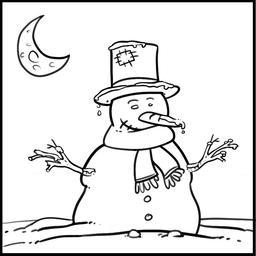 Dessin de bonhomme de neige. Source : http://data.abuledu.org/URI/565ad0f4-dessin-de-bonhomme-de-neige