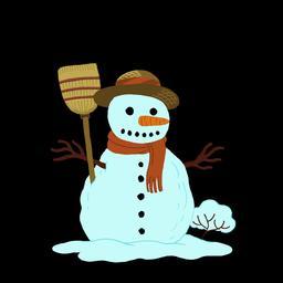 Dessin de bonhomme de neige. Source : http://data.abuledu.org/URI/566b1cda-dessin-de-bonhomme-de-neige