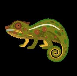 Dessin de caméléon. Source : http://data.abuledu.org/URI/54f7774a-dessin-de-cameleon
