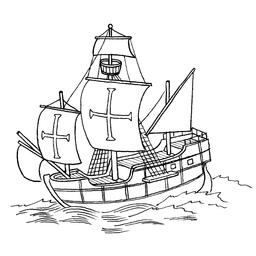 Dessin de caravelle. Source : http://data.abuledu.org/URI/550142bd-dessin-de-caravelle