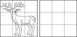 Dessin de cerf. Source : http://data.abuledu.org/URI/583ccc38-dessin-de-cerf