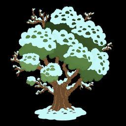 Dessin de chêne sous la neige. Source : http://data.abuledu.org/URI/566b1c9a-dessin-de-chene-sous-la-neige