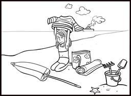 Dessin de Chloé à la plage. Source : http://data.abuledu.org/URI/565ac924-dessin-de-chloe-a-la-plage