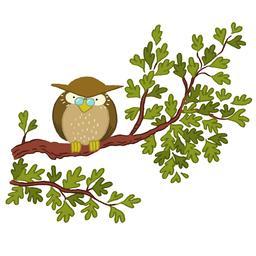 Dessin de chouette sur un arbre. Source : http://data.abuledu.org/URI/566b2c58-dessin-de-chouette-sur-un-arbre