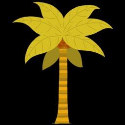 Dessin de cocotier. Source : http://data.abuledu.org/URI/54f7815c-dessin-de-cocotier
