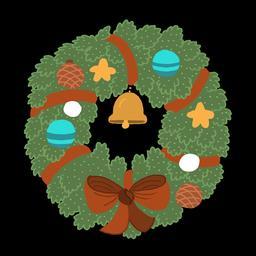 Dessin de couronne de Noël. Source : http://data.abuledu.org/URI/566b1e04-dessin-de-couronne-de-noel