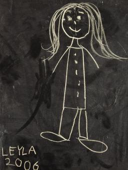 Dessin de fillette au tableau noir. Source : http://data.abuledu.org/URI/53e8f099-dessin-de-fillette-au-tableau-noir