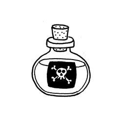 Dessin de fiole de poison - 3. Source : http://data.abuledu.org/URI/566b1669-dessin-de-fiole-de-poison-3