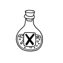 Dessin de fiole de poison. Source : http://data.abuledu.org/URI/566b1638-dessin-de-fiole-de-poison