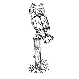 Dessin de hibou. Source : http://data.abuledu.org/URI/566b16a3-dessin-de-hibou