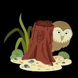 Dessin de hibou en couleurs de nuit. Source : http://data.abuledu.org/URI/566b17d3-dessin-de-hibou-en-couleurs-de-nuit