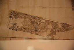 Dessin de la grande mosaïque géométrique de Burdigala. Source : http://data.abuledu.org/URI/5558dfe8-dessin-de-la-grande-mosaique-geometrique-de-burdigala