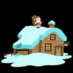 Dessin de maison de nuit à Noël. Source : http://data.abuledu.org/URI/566b1f01-dessin-de-maison-de-nuit-a-noel