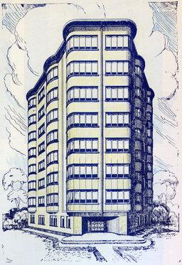 dessin de projet d'immeuble. Source : http://data.abuledu.org/URI/50237e20-dessin-de-projet-d-immeuble