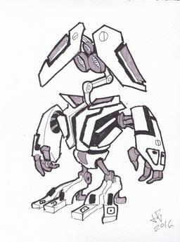 Dessin de robot - 04. Source : http://data.abuledu.org/URI/58e9e05d-dessin-de-robot-04