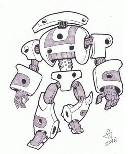 Dessin de robot - 20. Source : http://data.abuledu.org/URI/58e9cfae-dessin-de-robot-20