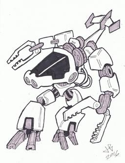 Dessin de robot - 21. Source : http://data.abuledu.org/URI/58e9cff6-dessin-de-robot-21