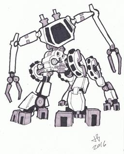 Dessin de robot - 26. Source : http://data.abuledu.org/URI/58e9d1e4-dessin-de-robot-26