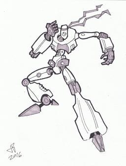 Dessin de robot - 28. Source : http://data.abuledu.org/URI/58e9d276-dessin-de-robot-28