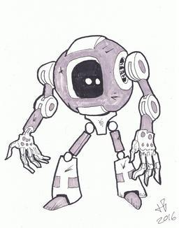 Dessin de robot - 29. Source : http://data.abuledu.org/URI/58e9d2b4-dessin-de-robot-29
