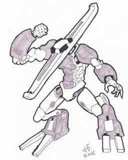 Dessin de robot - 30. Source : http://data.abuledu.org/URI/58e9d2ee-dessin-de-robot-30