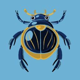 Dessin de scarabée. Source : http://data.abuledu.org/URI/54fbf15b-dessin-de-scarabee
