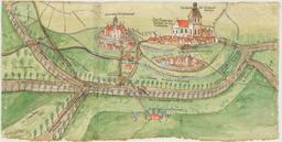 Dessin du château de Vischering en 1580. Source : http://data.abuledu.org/URI/566e5e94-dessin-du-chateau-de-vischering-en-1580