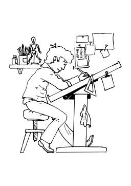 Dessinateur. Source : http://data.abuledu.org/URI/50254104-dessinateur