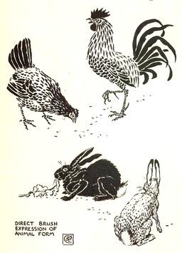 Dessins de coq, poule et lapins. Source : http://data.abuledu.org/URI/5654102d-dessins-de-coq-poule-et-lapins