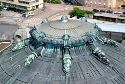 Détail du dôme de la gare de Limoges. Source : http://data.abuledu.org/URI/54a82463-detail-du-dome-de-la-gare-de-limoges