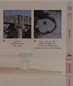 Détails architecturaux sur le Décumanus Nord de Jérash. Source : http://data.abuledu.org/URI/54b44d20-details-architecturaux-sur-le-decumanus-nord-de-jerash