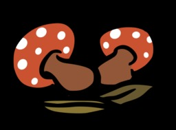 Deux champignons rouges. Source : http://data.abuledu.org/URI/527af56b-deux-champignons-rouges