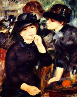 Deux filles en noir en 1880. Source : http://data.abuledu.org/URI/539e1b99-deux-filles-en-noir-en-1880