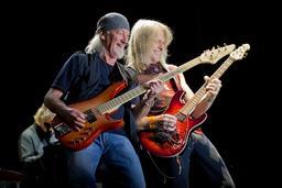 Deux guitaristes en concert. Source : http://data.abuledu.org/URI/59dd607a-deux-guitaristes-en-concert