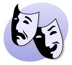 Deux masques de théâtre. Source : http://data.abuledu.org/URI/5049f5e1-deux-masques-de-theatre