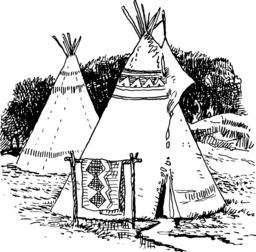 Deux tipis. Source : http://data.abuledu.org/URI/53e93f2e-deux-tipis