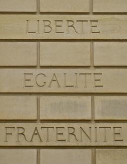 Devise de la République Française. Source : http://data.abuledu.org/URI/53e233ab-devise-de-la-republique-francaise
