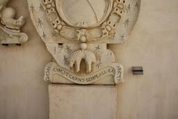Devise de la Toison d'or à Syracuse en 1674. Source : http://data.abuledu.org/URI/53ee087a-devise-de-la-toison-d-or-a-syracuse-en-1674