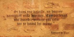 Devise de Léonard de Vinci. Source : http://data.abuledu.org/URI/55cce642-devise-de-leonard-de-vinci