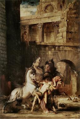 Diomède dévoré par ses chevaux. Source : http://data.abuledu.org/URI/50563fe9-diomede-devore-par-ses-chevaux