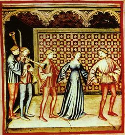 Divertissements médiévaux : musique et danse. Source : http://data.abuledu.org/URI/50ca4c2c-divertissements-medievaux-musique-et-danse