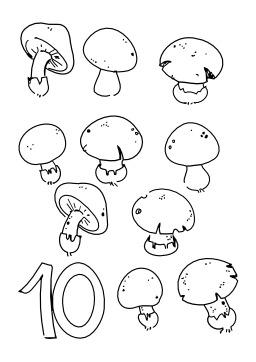 Dix champignons. Source : http://data.abuledu.org/URI/50254c6c-dix-champignons